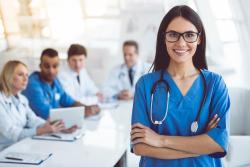 nurse aide smiling