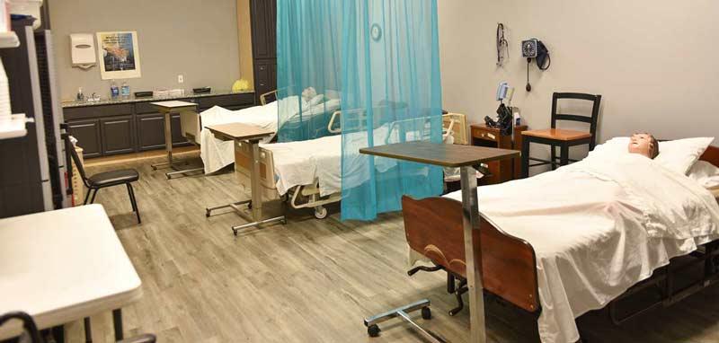 healthcare career school patient lab